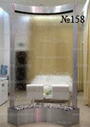 Водная завеса в стиле «Хай-Тек» является в данном интерьере прозрачной перегородкой.