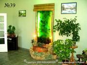 Оформление декоративного фонтана – водной панели в восточном стиле дополняет китайская живопись.