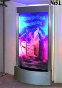 Декоративная водная панель может применяться в качестве рекламного носителя, как можно видеть на этом примере.