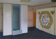 Водная панель строгого дизайна со светодиодной подсветкой.