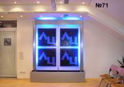 Еще один пример размещения логотипа компании на водной панели с подсветкой.